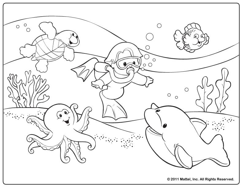Comprehensive image with free printable summer coloring pages
